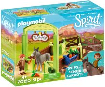 PLAYMOBIL Spirit - Riding Free 70120 La Mèche et Monsieur Carotte avec box