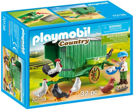 PLAYMOBIL Country 70138 Enfant et poulailler