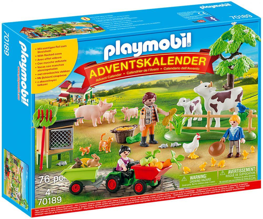 Calendrier De L Avent Playmobil Pas Cher.Playmobil Christmas 70189 Calendrier De L Avent Animaux De La Ferme