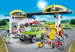 PLAYMOBIL City Life 70201 - Station service pas cher