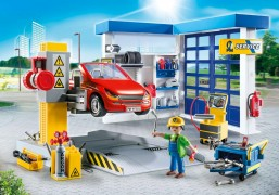 PLAYMOBIL City Life 70202 - Garage automobile pas cher