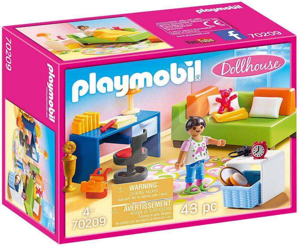 Accessoire Chambre D Enfant playmobil dollhouse 70209 chambre d'enfant avec canapé-lit