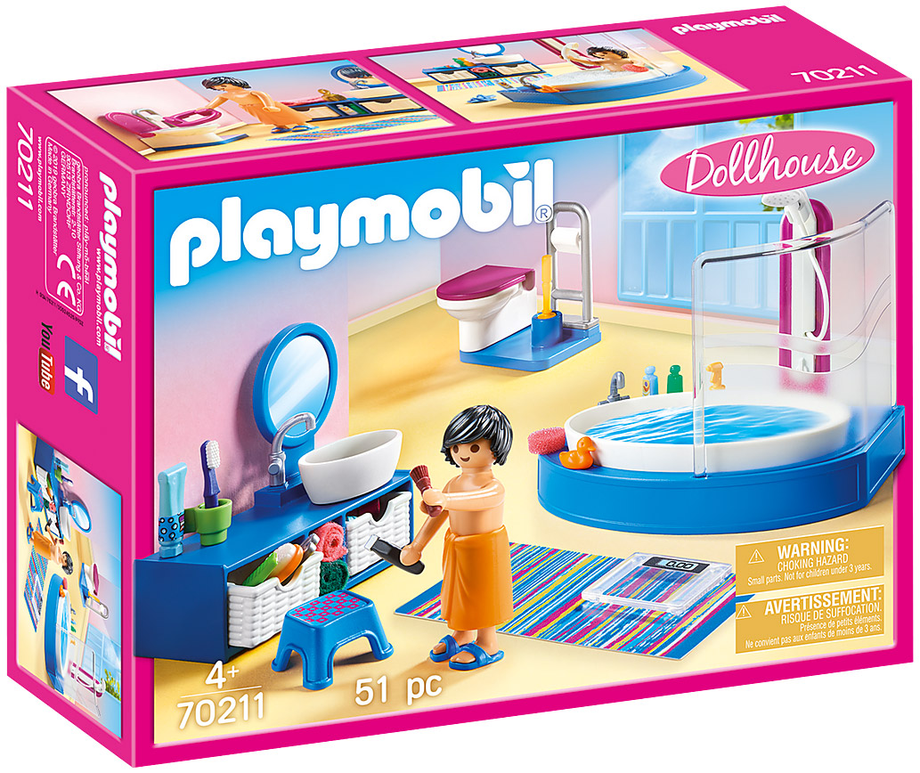 PLAYMOBIL Dollhouse 70211 Salle de bain avec baignoire
