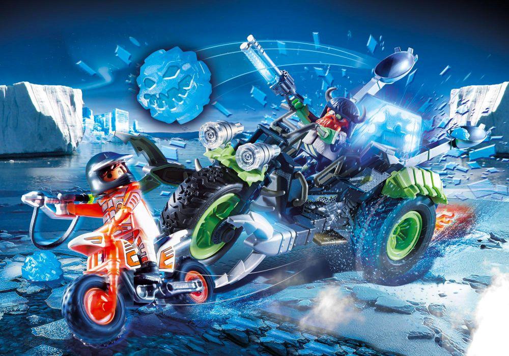 playmobil top agents 70232 pas cher  moto des neiges des