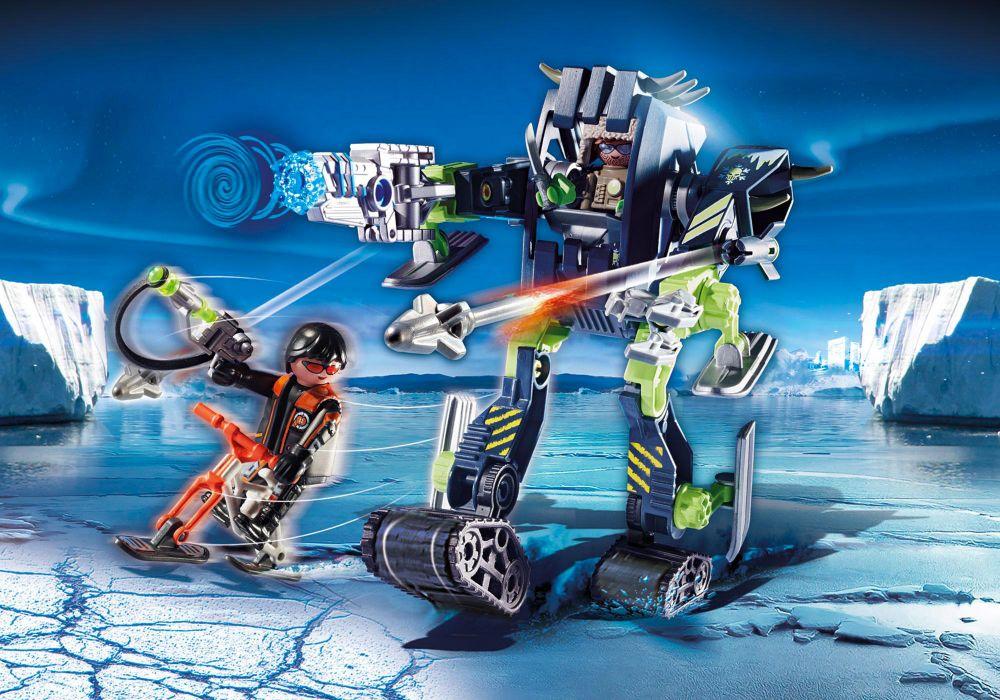playmobil top agents 70233 pas cher  robot des neiges des