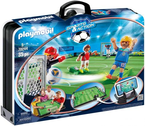 PLAYMOBIL Sports & Action 70244 Grand terrain de football transportable