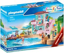 PLAYMOBIL Family Fun 70279 Port avec restaurant de glaces