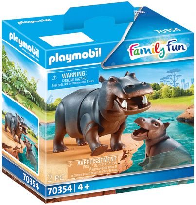 PLAYMOBIL Family Fun 70354 Hippopotame et son petit