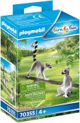 PLAYMOBIL Family Fun 70355 2 lémuriens