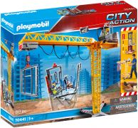 PLAYMOBIL City Action 70441 Grue radio-commandée avec mur de construction