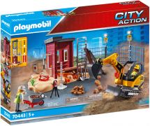 PLAYMOBIL City Action 70443 - Mini-pelleteuse et chantier pas cher