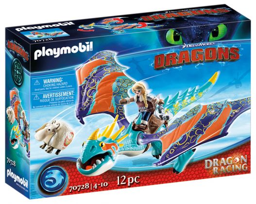 PLAYMOBIL Dragons (DreamWorks) 70728 Dragon Racing : Astrid et Tempête