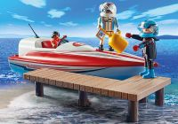 PLAYMOBIL Sports & Action 70744 Pilotes de bateau de course