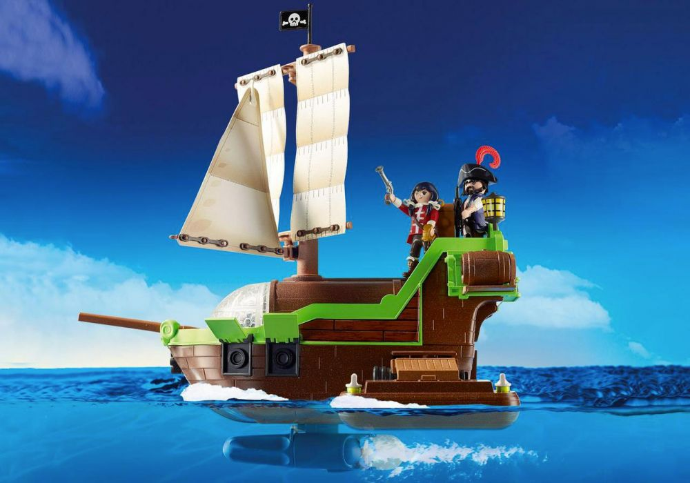 playmobil super 4 9000 pas cher bateau pirate cam l on. Black Bedroom Furniture Sets. Home Design Ideas