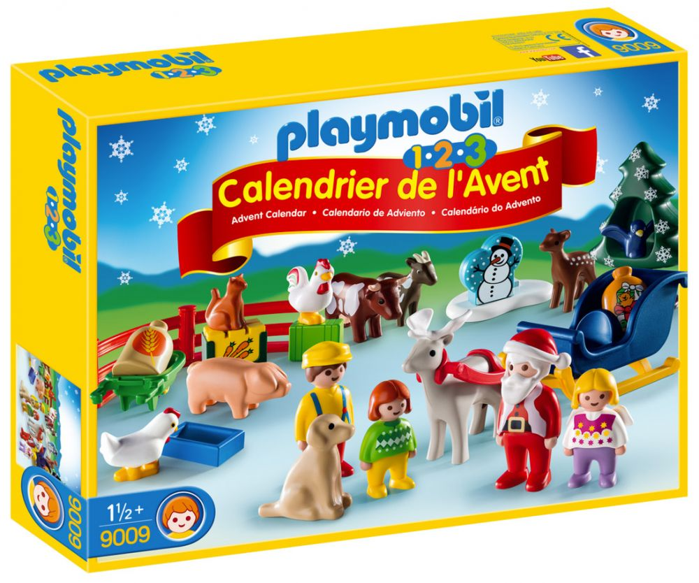 playmobil 123 9009 pas cher calendrier de l 39 avent 1 2 3 no l la ferme. Black Bedroom Furniture Sets. Home Design Ideas