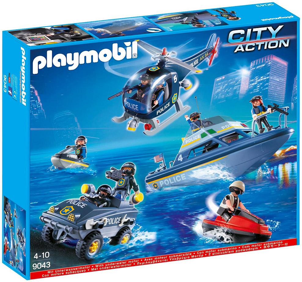 playmobil city action 9043 pas cher swat v hicules des forces sp ciales de police. Black Bedroom Furniture Sets. Home Design Ideas