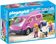 PLAYMOBIL City Life 9054 - Camionnette Rose pas cher