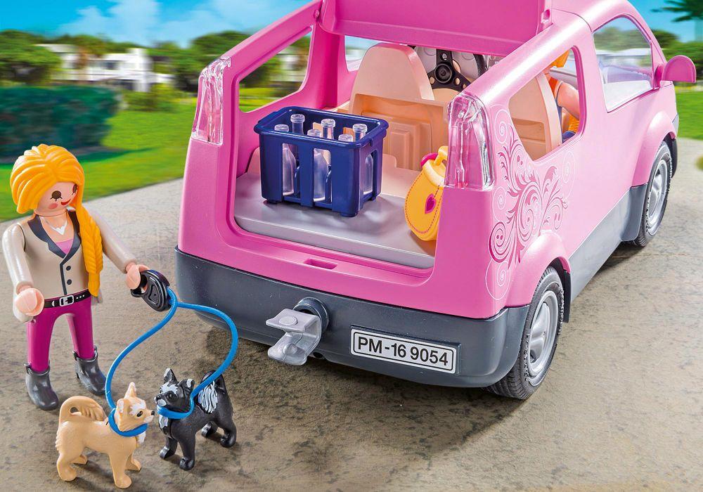 playmobil city life 9054 pas cher camionnette rose. Black Bedroom Furniture Sets. Home Design Ideas