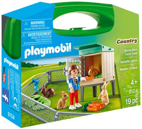 PLAYMOBIL Country 9104 Valisette Lapins