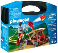 PLAYMOBIL Knights 9106 - Valisette Chevalier et Catapulte pas cher