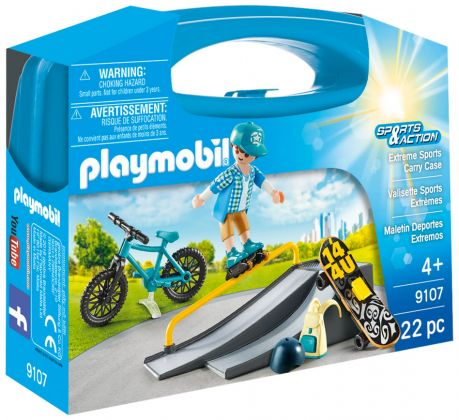 PLAYMOBIL Sports & Action 9107 Valisette Sports Extrêmes