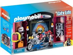PLAYMOBIL City Life 9108 Coffret de l'Atelier du Motard
