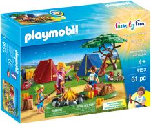 PLAYMOBIL Family Fun 9153 Tentes et feu de camp