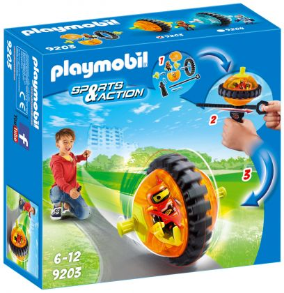 PLAYMOBIL Sports & Action 9203 Toupie orange