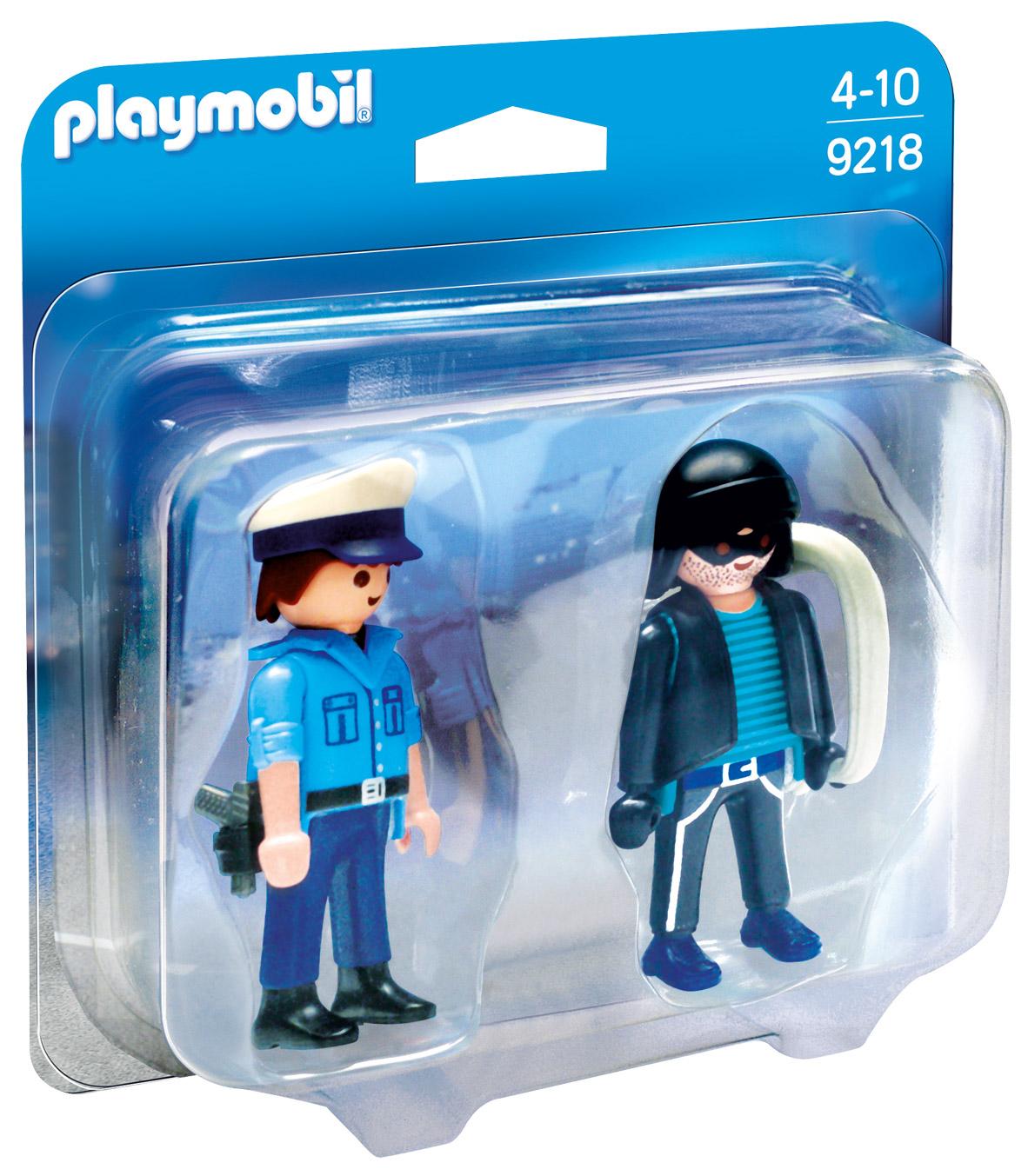 playmobil city action 9218 pas cher duo policier et voleur. Black Bedroom Furniture Sets. Home Design Ideas