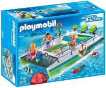 PLAYMOBIL Sports & Action 9233 Catamaran à fond de verre avec moteur submersible