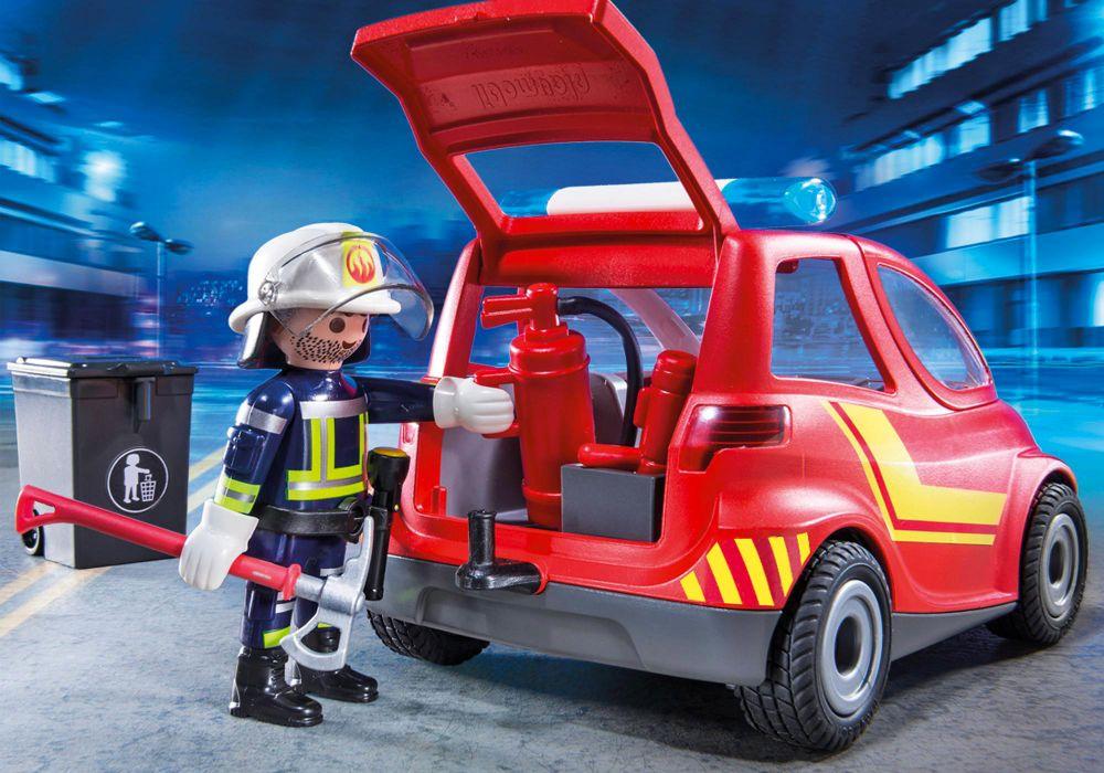 Playmobil city action 9235 pas cher pompier avec - Caserne pompier playmobil pas cher ...
