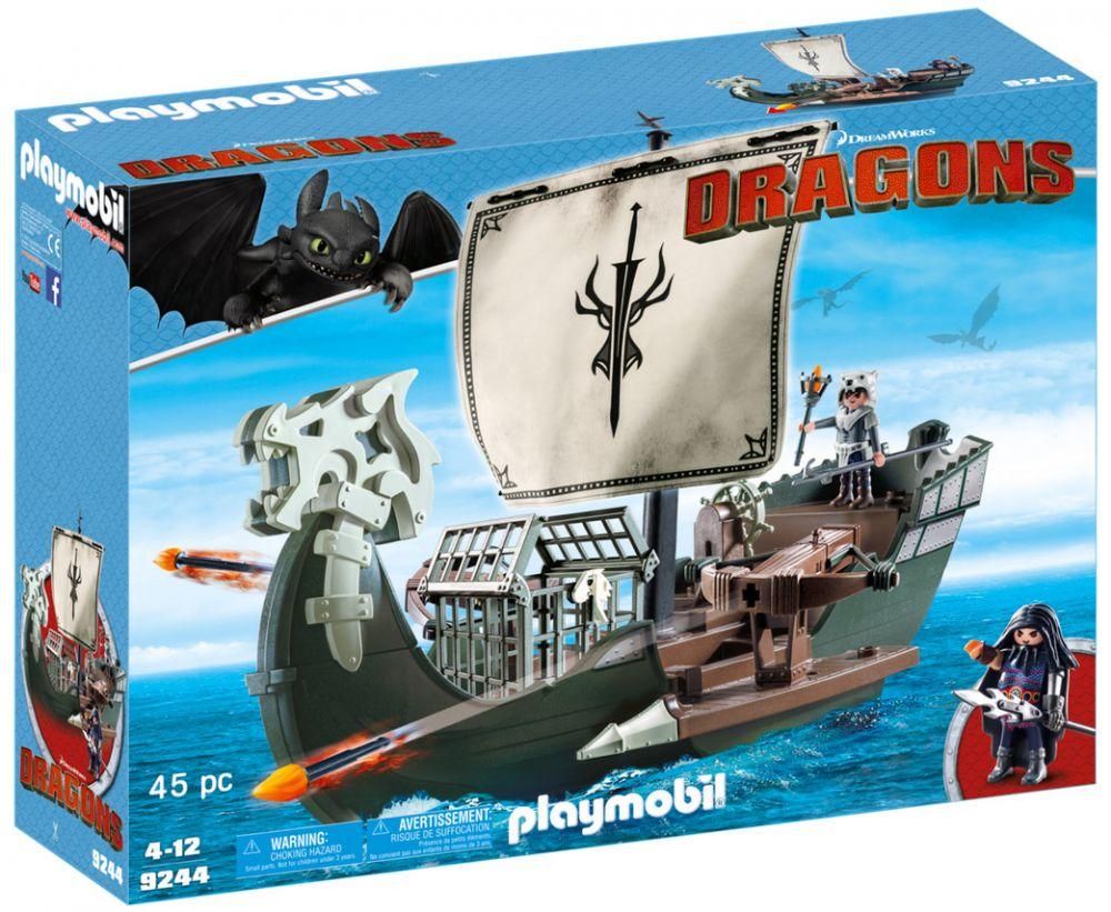 playmobil dragons dreamworks 9244 pas cher drago et. Black Bedroom Furniture Sets. Home Design Ideas