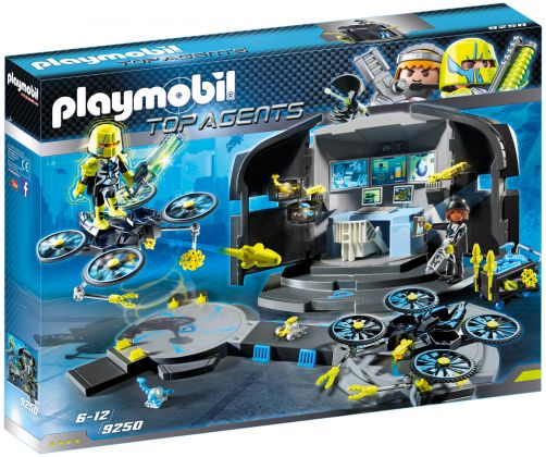 PLAYMOBIL Top Agents 9250 Centre de commandement du Dr. Drone