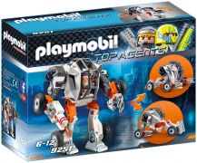 PLAYMOBIL Top Agents 9251 Chef de la Spy Team avec Robot Mech