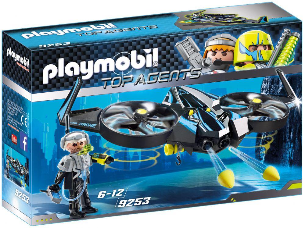 playmobil top agents 9253 pas cher  mega drone