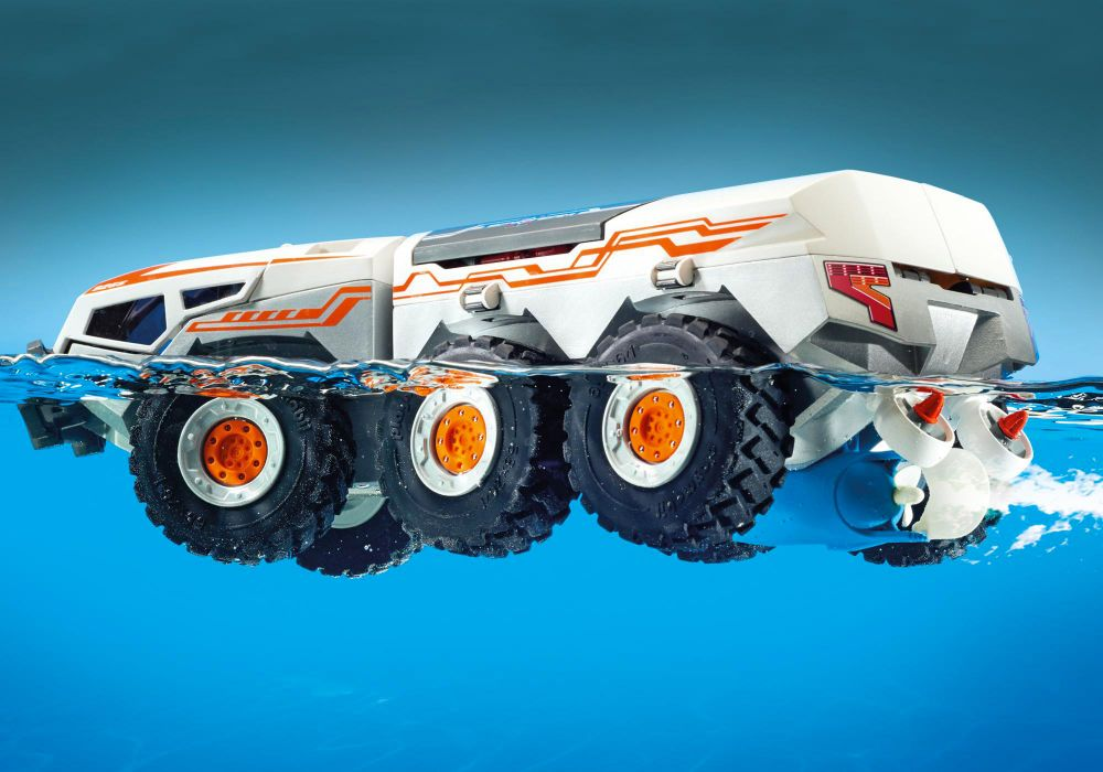 playmobil top agents 9255 pas cher  camion et navette de