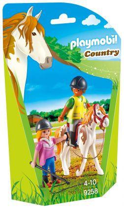 PLAYMOBIL Country 9258 Monitrice d'équitation