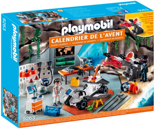 "PLAYMOBIL Christmas 9263 Calendrier de l'Avent ""Top Agents"""