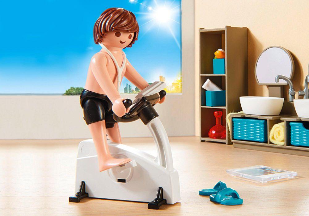 Playmobil City Life 9268 Pas Cher Salle De Bain Avec Douche A L