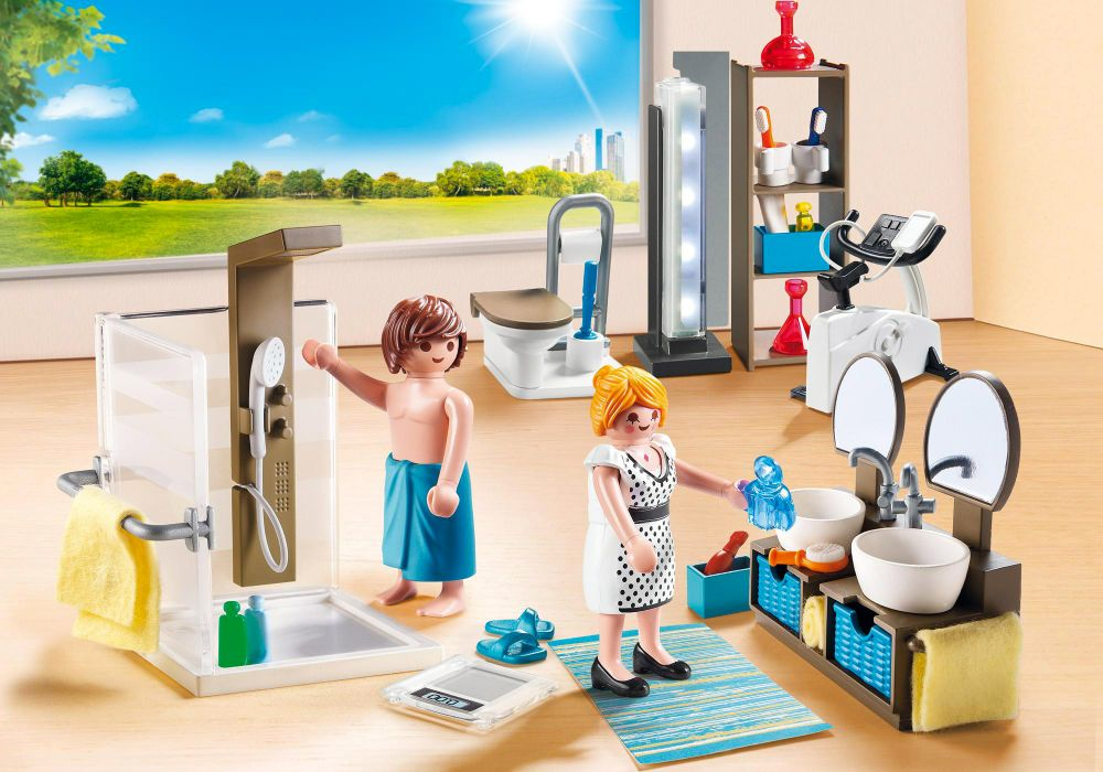 playmobil city life 9268 pas cher salle de bain avec douche l 39 italienne. Black Bedroom Furniture Sets. Home Design Ideas