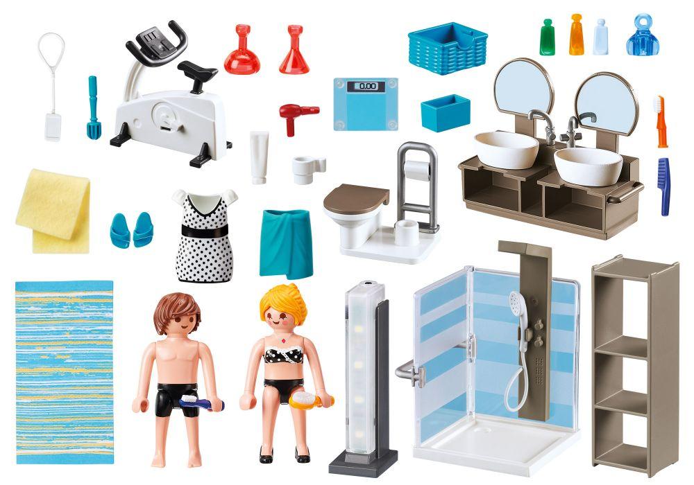 Playmobil city life 9268 pas cher salle de bain avec for Prix salle de bain playmobil