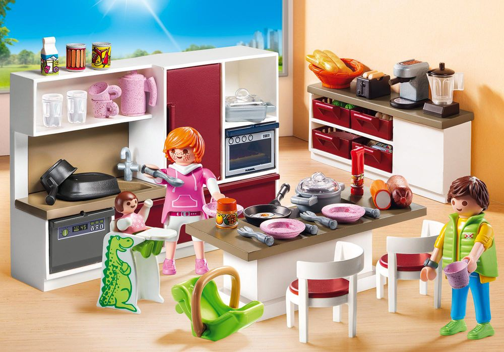 Playmobil City Life 9269 Pas Cher Cuisine Amenagee