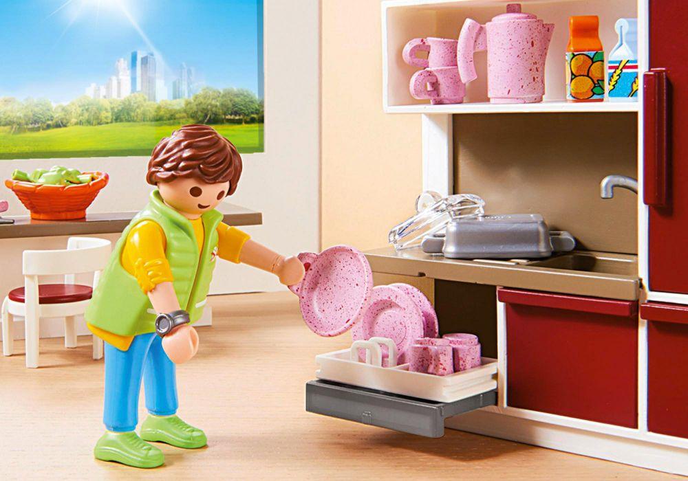 Playmobil city life 9269 pas cher cuisine am nag e for Maison moderne playmobil 2018