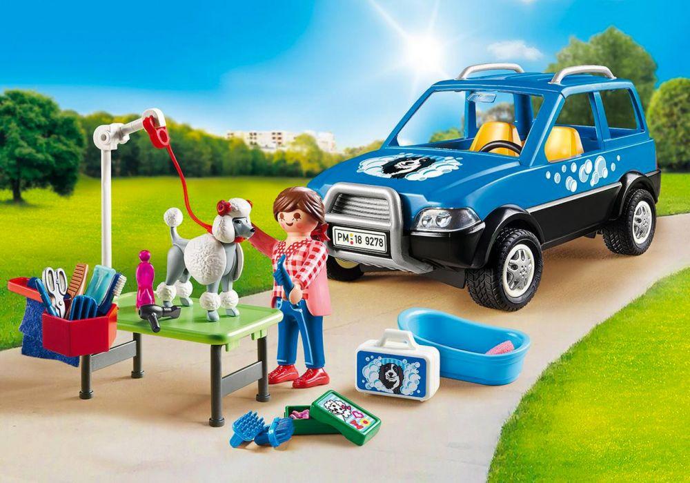playmobil city life 9278 pas cher  toiletteuse avec véhicule