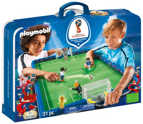 PLAYMOBIL Sports & Action 9298 Stade de foot transportable FIFA - Russie 2018