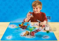 PLAYMOBIL Pirates 9328 Pirates avec support de jeu