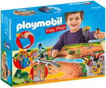 PLAYMOBIL Action 9329 Pilotes motocross avec support de jeu