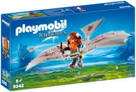 PLAYMOBIL Knights 9342 - Nain avec deltaplane pas cher