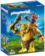 PLAYMOBIL Knights 9343 - Troll géant et soldat nain pas cher