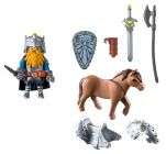 PLAYMOBIL Knights 9345 Combattant nain et poney